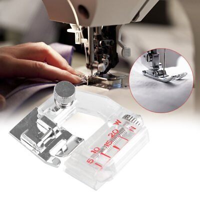 Sewing Machine Presser Foot with Adjustable Width Cloth Hemmer Foot Roll Tool NI