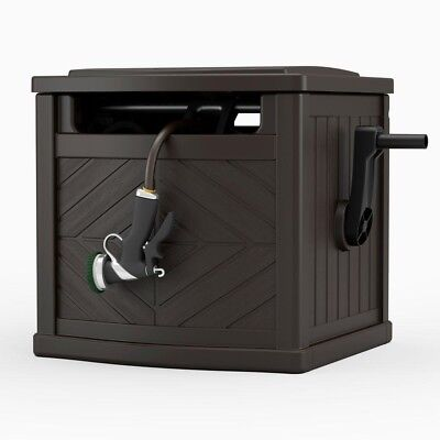 Charmant Outdoor Storage Box Portable Garden Hideaway Water Hose Reel Bin Patio  Container