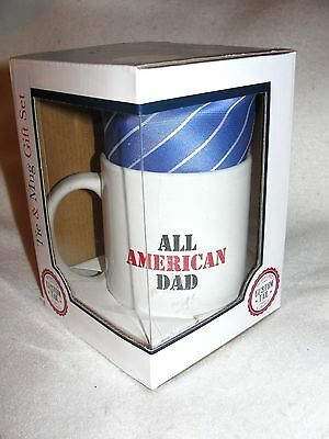 Men's Tie and Coffee Mug Gift Set - New in Box