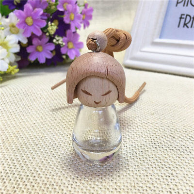 Perfume Bottle Cute Doll Design Refillable Container Stylish Ornament NI