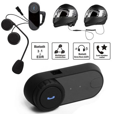 T-COM02S Bluetooth Helmet Intercom Hand Free Headphone Interphone Waterproof NI