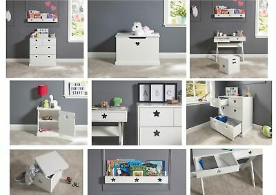 Hearts And Stars White Children S Bedroom Furniture Drawers Storage Desk Stool