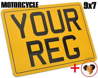 PREMIUM QUALITY QUAD TRIKE REAR BIKE NUMBER PLATE LEGAL 9x7 FIXINGS INCLUDED
