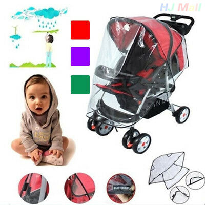 Baby Universal Waterproof Stroller Rain Cover Wind Shield Pushchair Cover^
