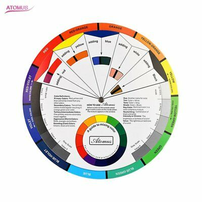 ARTIST OIL ACRYLIC POCKET COLOUR WHEEL PAINT MIXING GUIDE PAINTING ART smll QW