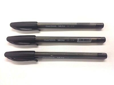 BRAND NEW - 3 x PAPERMATE InkJoy BALLPOINT PENS / BLACK (1 Buy Per Person)