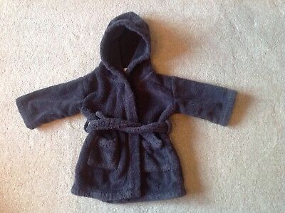 Boys Little White Company Navy Blue Hooded Dressing Gown 12-18 Months used