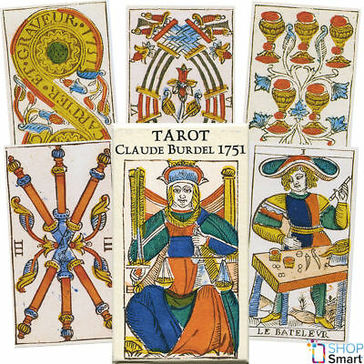 Tarot Claude Burdel 1751 Cards Deck Esoteric Telling Astrology Us Games Systems