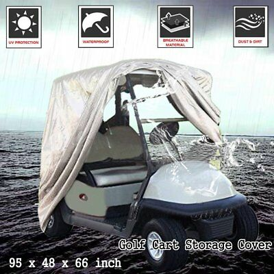 2-Passenger Waterproof Golf Cart Buggy Golfcar Storage Cover Yamaha EZ Go NI