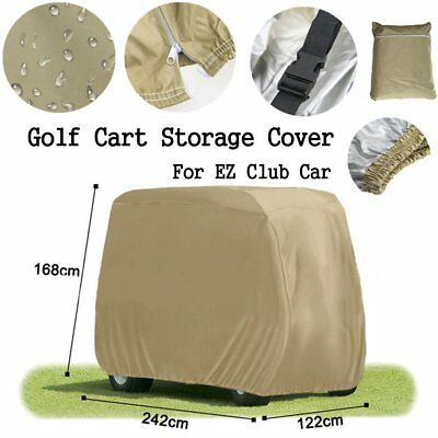 2 Passenger Golf Cart Cover, Fit EZ Go, Club Car,Yamaha Cart Taupe Storage NI