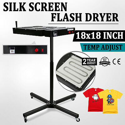 "NEW 18"" x 18"" SILKSCREEN FLASH DRYER CURING GARMENTS T-SHIRT SCREEN PRINTING"