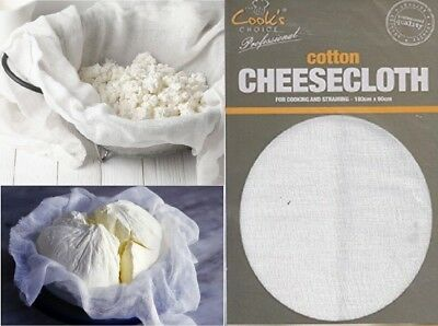 180 X 90Cm Cheese Cloth Muslin Strain Straining Cooking Making Draining Cleaning