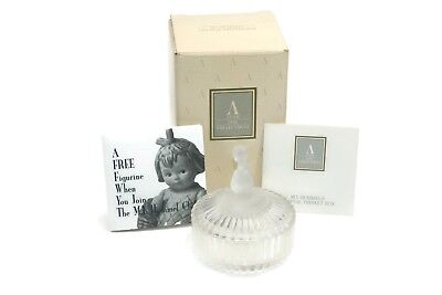 NEW Avon HUMMEL Lead Crystal LITTLE GIRL Round Trinket Jewelry Box Collectible