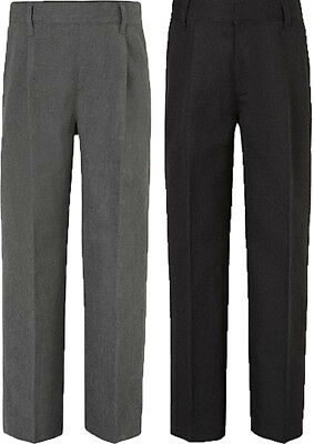 Boys School trousers Pull Up Ex M&S School Grey or Charcoal Grey Age 2-6 yrs