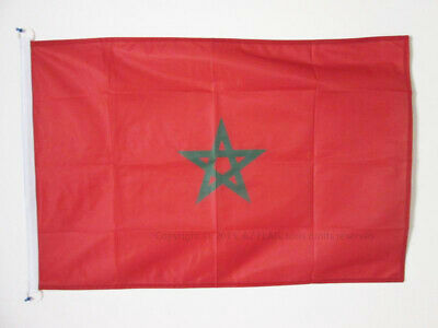 MOROCCO FLAG 3' x 5' External Use - MOROCCAN FLAGS 90 x 150 cm - BANNER 3x5 ft K