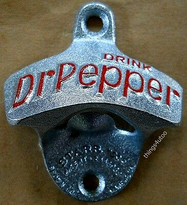 Dr. Pepper bottle opener NIB wall mounting #2729