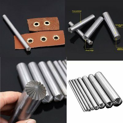 3-15MM Metal Eyelet Chrysanthemum Punch Hole Tool for Leather Craft DIY PunchiGT