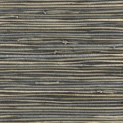 real natural triangle grasscloth wallpaper grass on charcoal gray 72 sq ft