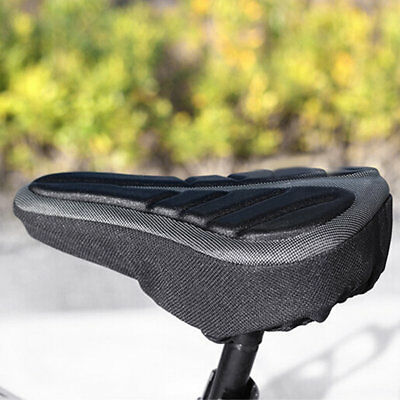 Comfortable Bike Bicycle Seat Cushion 3D Thick Soft Seat Cover Cushion NI