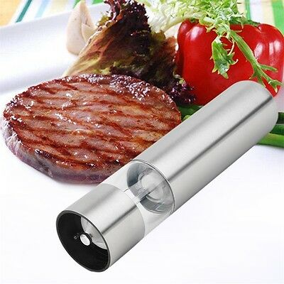 Electric Stainless Steel Kitchen Tool Salt Pepper Mill Grinder Muller YW