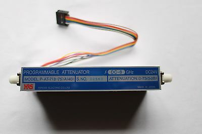 Used HRS Hirose Microwave programmable attenuator 0-75 5dB stp P-AT-7(8-75)A(40)