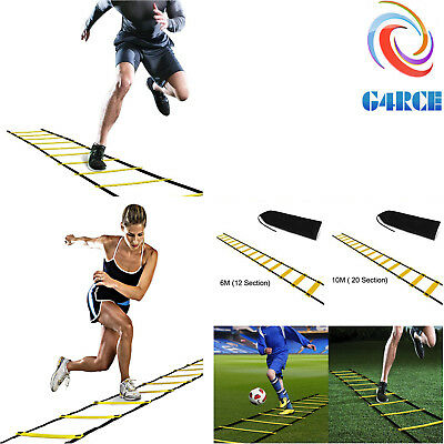 Hot 6M Football Running Speed Ladder Agility Soccer Training Equipment Sport Fit