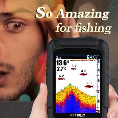 Portable Wireless+Wired 2 In One Waterproof Fish Finder Monitor FF718LIC NI