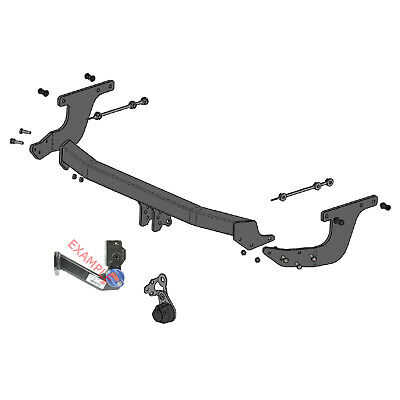 Flange Tow Bar Witter Towbar for Renault Grand Scenic 2009-2017