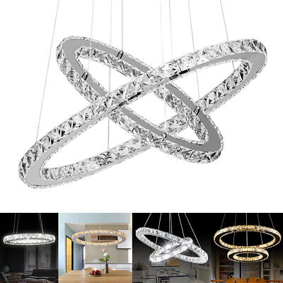 Modern galaxy crystal chandelier circles pendant led light ceiling modern galaxy crystal chandelier circles pendant led light ceiling lamp lighting aloadofball Images