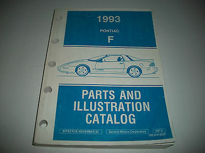 Original 1993 Pontiac Firebird  Parts & Illustrations Parts Catalog Cmystor4More