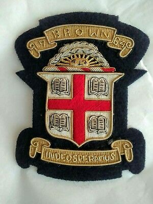 Hard to find 1950-1960s ERA BROWN UNIVERSITY  BULLION CREST PATCH True Vintage