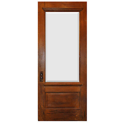 "Salvaged 34"" Door with Beveled Glass, Egg-and-Dart, NED778"