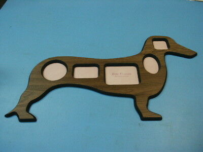 Wooden Dachshund Picture Frame  Excellent Condition