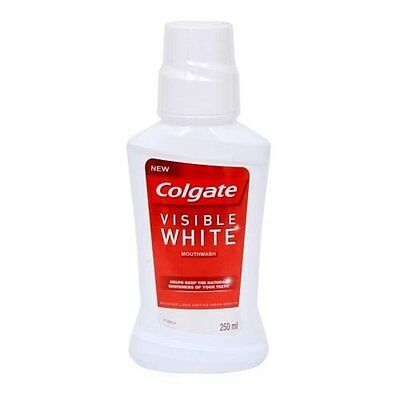 Colgate Plax Visible White Mouthwash - 250 ml Protection Against Plaque and Germ