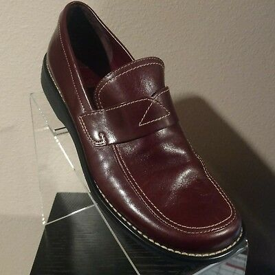 Franco Sarto Burgundy Red Leather Penny Loafers Flats Womens 8m