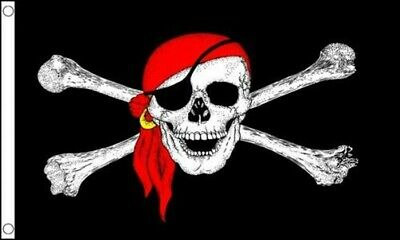 Pirate Skull Crossbones Flag Jolly 5Ft X 3Ft Official High Quality Denier Flags