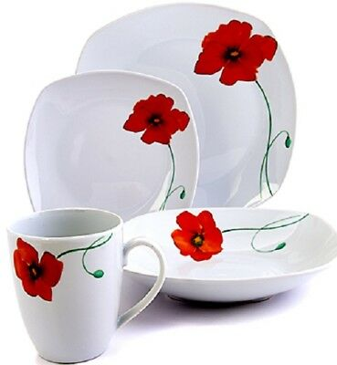 Tabletops Gallery Poppies 32-piece Soft Square Dinnerware Set for 8 NEW FREESHIP  sc 1 st  PicClick & TABLETOPS GALLERY 16-Piece Pescara Dinnerware Set - $75.61 | PicClick