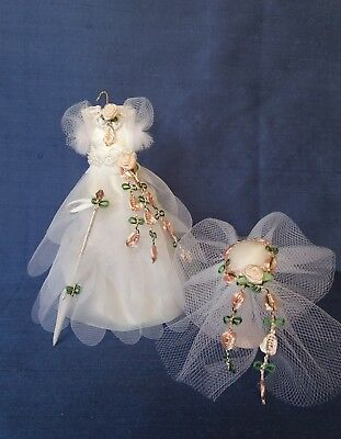 Dolls house Miniature/12th/1:12 scale Dress, Hat & Parasol- Hand crafted by Eva