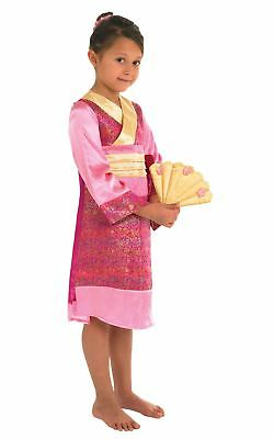 Girls Oriental Princess Chinese Geisha Asian Japanese Fancy Dress Costume Outfit