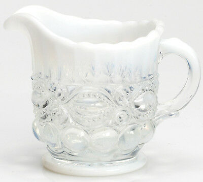 Creamer - Eyewinker - Crystal Opalescent Glass - Mosser USA