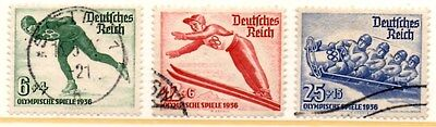 Germany 1935 Winter Olympic Games  SG.597/599  Used Set of 3