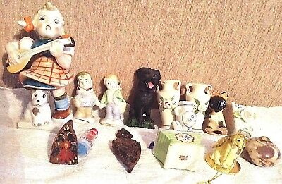 Vintage Occupied Japan Lot Assorted Figurines Plus Other