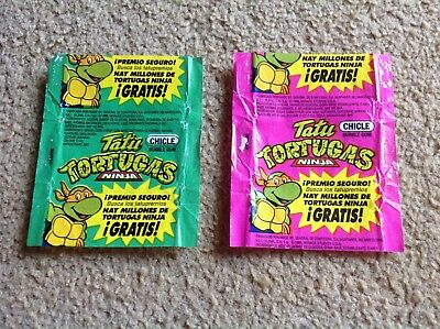 2 Chicle Teenage Mutant Ninja Turtles Wax Wrapper 1989 Mirage Studios POST FREE