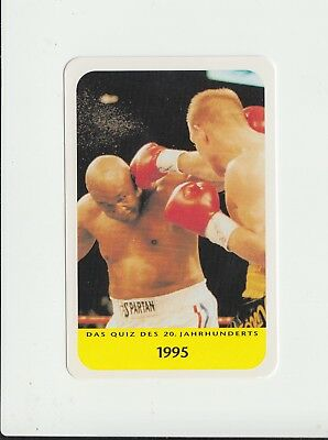 Boxing : George Foreman : attractive German collectable game card