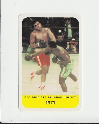 Boxing : Muhammad Ali v Joe Frazier : attractive German collectable game card