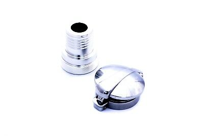 "BMW R65 boxer twin Alloy Tank Adaptor + 2.5"" Monza Style Cap Cafe Racer bobber"