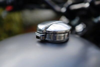 """BMW R90 boxer twin Alloy Tank Adaptor + 2.5"""" Monza Style Cap Cafe Racer bobber"""