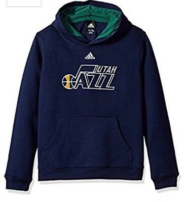 NBA Utah Jazz Boys 8-20 Prime Pullover Hoodie Large 14-16 Dark Navy