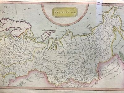 Rusia Imperio Russo.antique Map Russian Empire By Thomas Kelly 1810