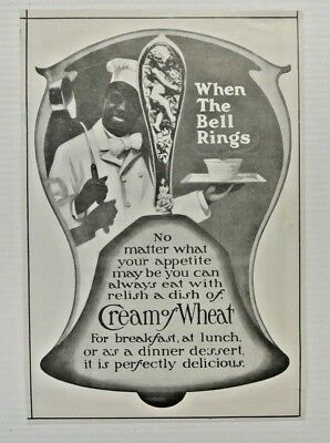 Antique 1904 Cream of Wheat When the Bell Rings Negro Americana Print Ad
